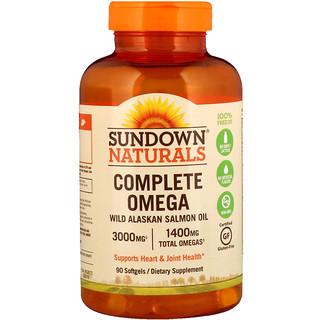 Sundown Naturals, Complete Omega, 1400 mg , 90 Softgels