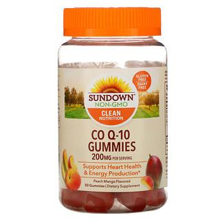 Sundown Naturals, Co Q-10 Fruchtgummis, Pfirsich-Mango-Geschmack, 100 mg, 50 Fruchtgummis