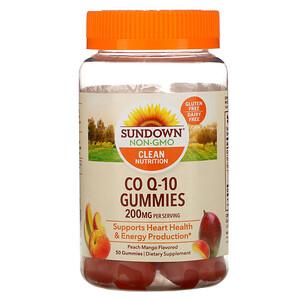Сандаун Нэчуралс, Co Q-10 Gummies, Peach Mango Flavored, 200 mg, 50 Gummies отзывы покупателей