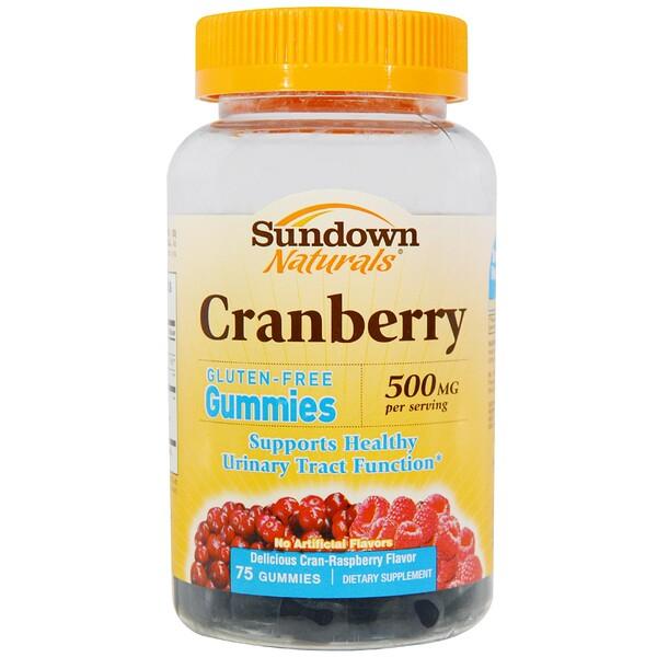 Sundown Naturals, Cranberry, 500 mg, Cran-Raspberry Flavor, 75 Gummies (Discontinued Item)