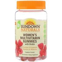 Мультивитаминные мармеладки для женщин, с биотином, вкусом малины, 60 штук - фото