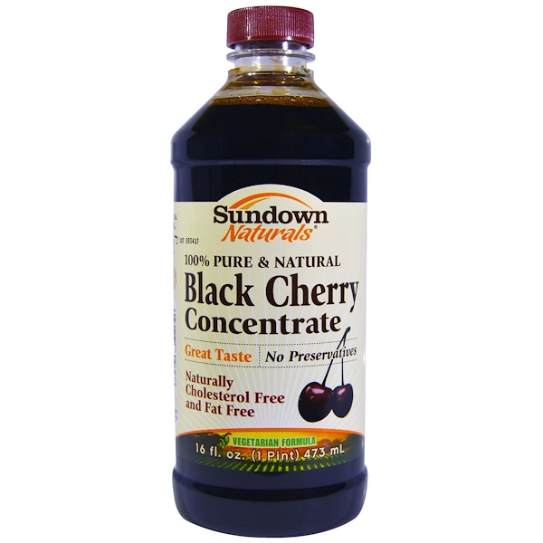 Sundown Naturals, Black Cherry Concentrate, 16 fl oz (473 ml) (Discontinued Item)