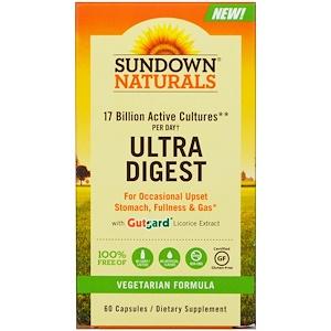 Sundown Naturals, Ultra Digest Пищеварение , 60 капсул