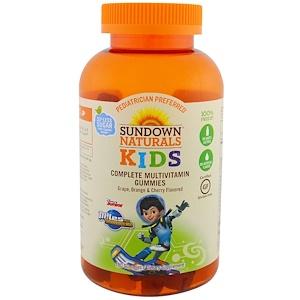 Sundown Naturals Kids, Complete Multivitamin Gummies, Miles from Tomorrowland, Grape, Orange & Cherry Flavored, 180 Gummies отзывы