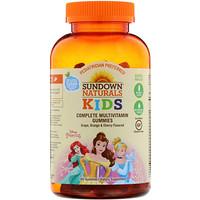 Дети, полный мультивитаминный жевательный мармелад, принцесса Диснея, виноград, апельсин и вишня, 180 жевательных мармеладок - фото
