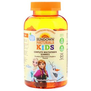 Sundown Naturals Kids, Complete Multivitamin Gummies, Disney Frozen, Strawberry, Watermelon & Raspberry Flavored, 180 Gummies