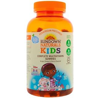 Sundown Naturals Kids, Complete Multivitamin Gummies, Disney Doc McStuffins, Grape, Orange & Cherry Flavored, 180 Gummies