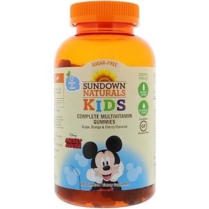Sundown Naturals Kids, Complete Multivitamin Gummies, Disney Mickey Mouse, Grape, Orange & Cherry Flavored, 180 Gummies отзывы
