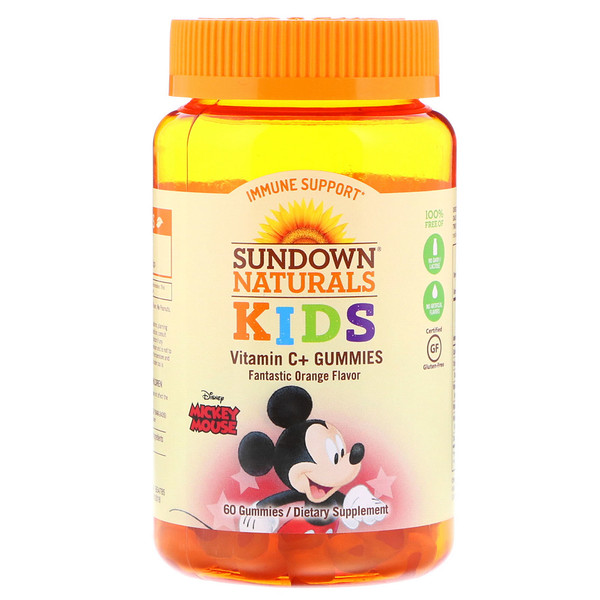 Sundown Naturals Kids, Vitamin C+ Gummies, Disney Mickey Mouse, Fantastic Orange , 60 Gummies