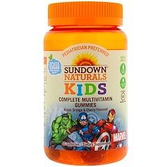 Sundown Naturals Kids, علكات الفيتامينات الكاملة، مارفيل أفينجرز، نكهة العنب والبرتقال والكرز، 60 علكة