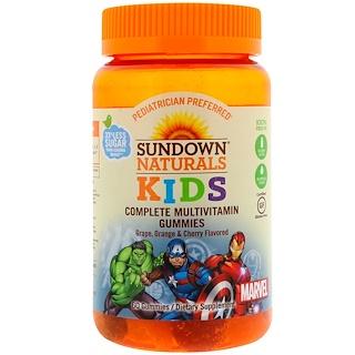 Sundown Naturals Kids, Complete Multivitamin Gummies, Marvel Avengers, Grape, Orange & Cherry Flavored, 60 Gummies
