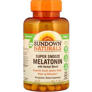 Sundown Naturals, ميلاتونين لغفوة فائقة، 90 كبسولة