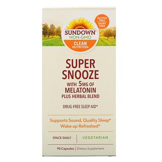 Sundown Naturals, Super Snooze Melatonin, 90 Capsules