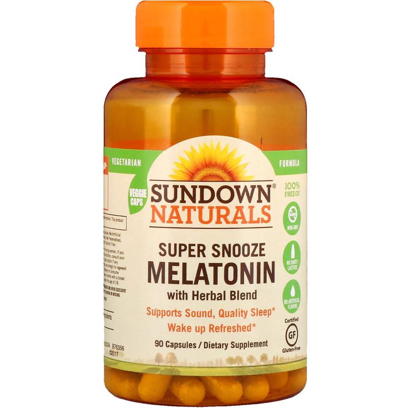 Sundown Naturals, 超級促睡眠褪黑激素,90 粒膠囊