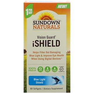 Sundown Naturals, ビジョンガード iシールド、ソフトジェル60個