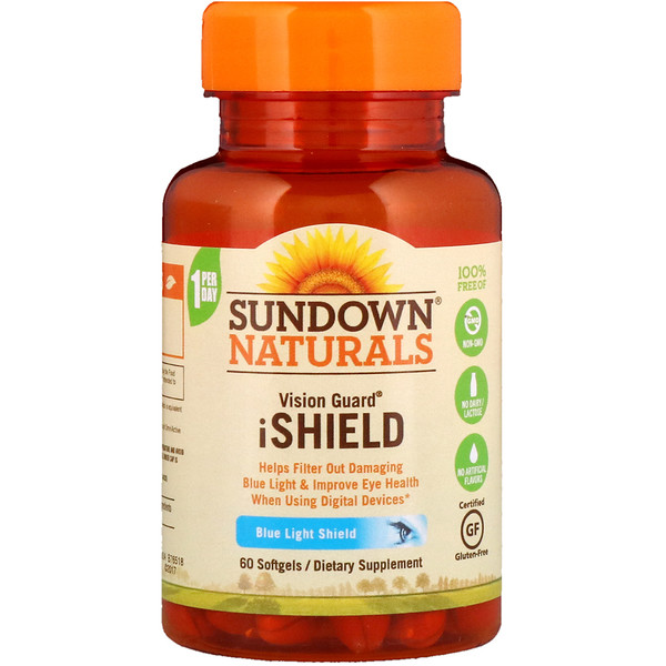 Sundown Naturals, آيشيلد لرعاية البصر Vision Guard iShield ، 60 كبسولة (Discontinued Item)