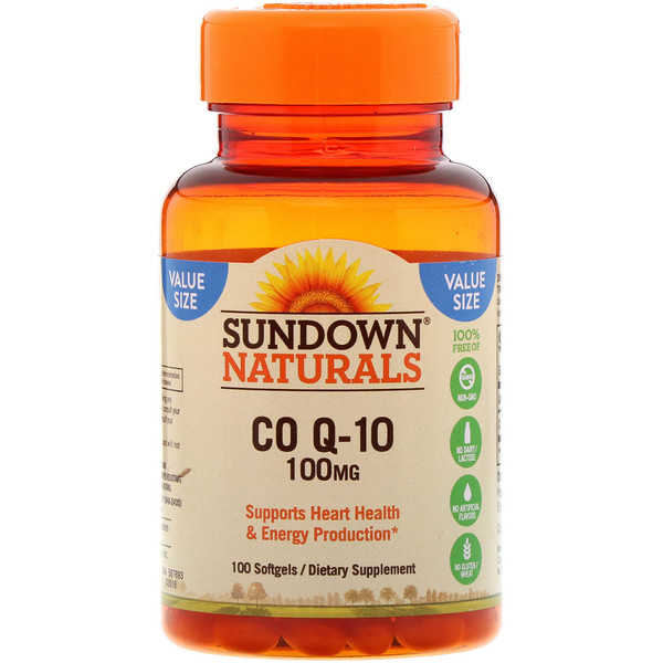 Sundown Naturals, Co Q-10 ، 100 ملغ، 100 كبسولة رخوة