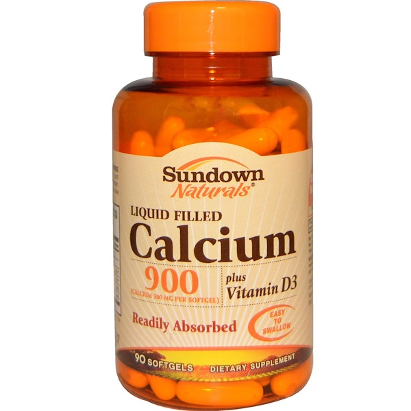 Sundown Naturals, Calcium 900 Plus Vitamin D3, 90 Softgels (Discontinued Item)