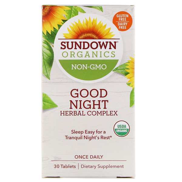 Sundown Organics, Good Night Herbal Complex, 30 Tablets
