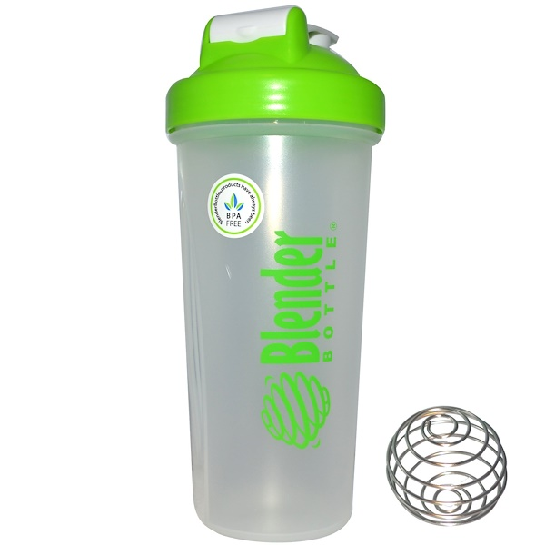Blender Bottle, Blender Bottle with Blender Ball, Color: Green, 28 oz Bottle (Discontinued Item)