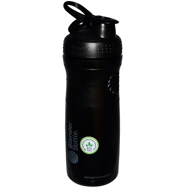 Blender Bottle, BlenderBottle, SportMixer Tritan Grip, Black/Black, 28 oz (Discontinued Item)