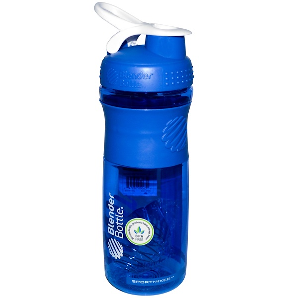 Blender Bottle, BlenderBottle, SportMixer Tritan Grip, Blue/White, 28 oz (Discontinued Item)