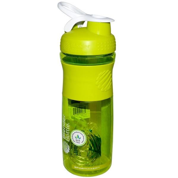 Blender Bottle, SportMixer Blender Bottle, Green/White, 28 oz Bottle (Discontinued Item)