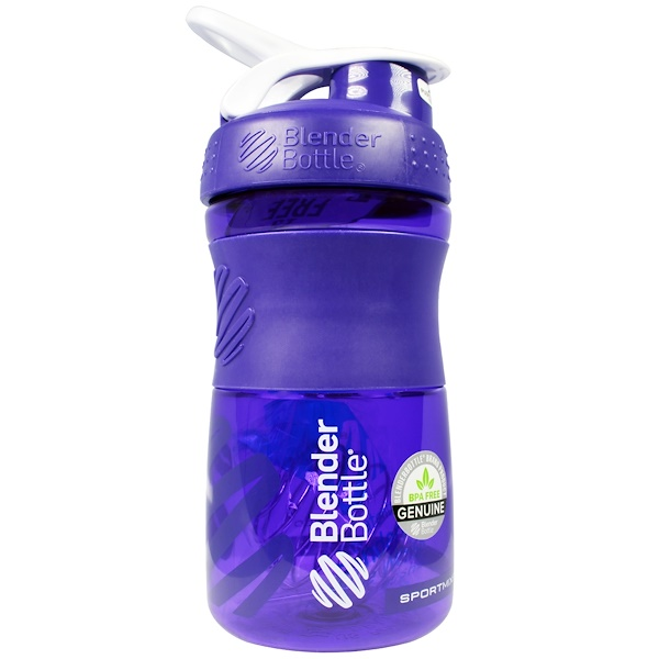 Blender Bottle, Blender Bottle Sport Mixer, Grip Titan, Purple, 20 oz (Discontinued Item)