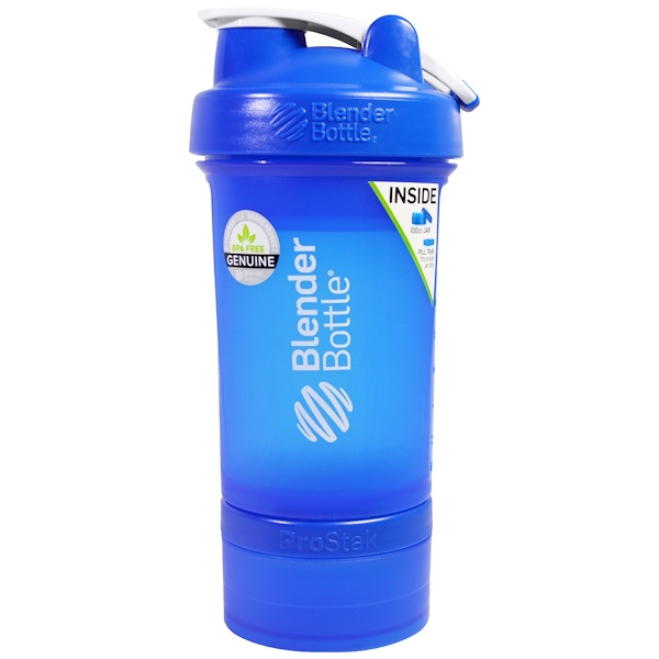 Blender Bottle, BlenderBottle, ProStak, Blue, 22 oz (Discontinued Item)