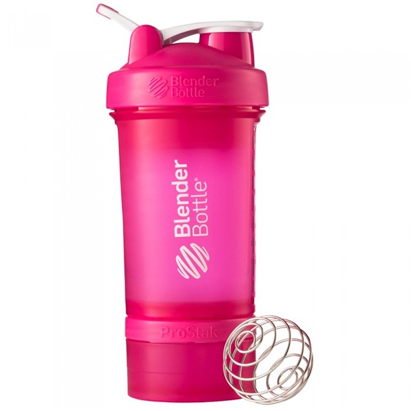 Sundesa, BlenderBottle ProStak、ピンクフルカラー、22オンス( 660ml) (Discontinued Item)