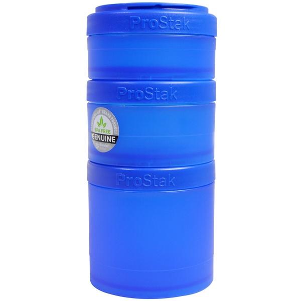 Blender Bottle, BlenderBottle, ProStak, Expansion Pak, Blue, 4 Pieces (Discontinued Item)