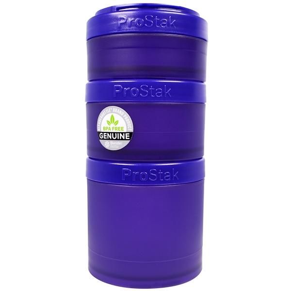 Blender Bottle, BlenderBottle, ProStak, Expansion Pak, Purple, 4 Pieces (Discontinued Item)