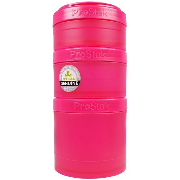Blender Bottle, BlenderBottle, ProStak, Expansion Pak, Pink, 4 Pieces (Discontinued Item)