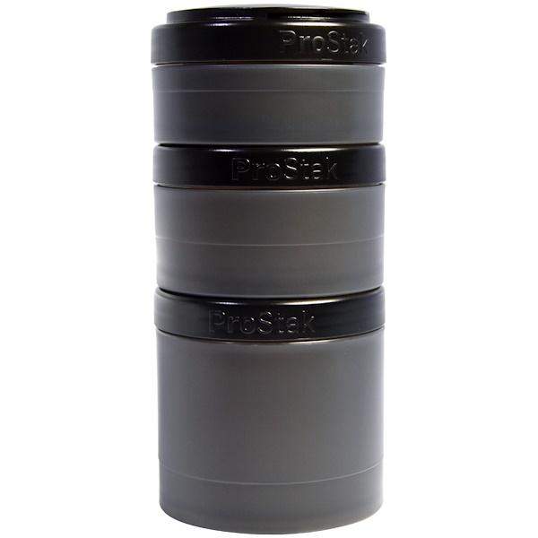 Blender Bottle, BlenderBottle, ProStak, Expansion Pak, Black, 4 Pieces (Discontinued Item)