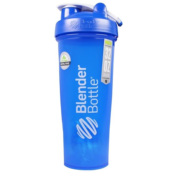 Blender Bottle, Blender Bottle, Classic With Loop, Blue, 32 oz (Discontinued Item)