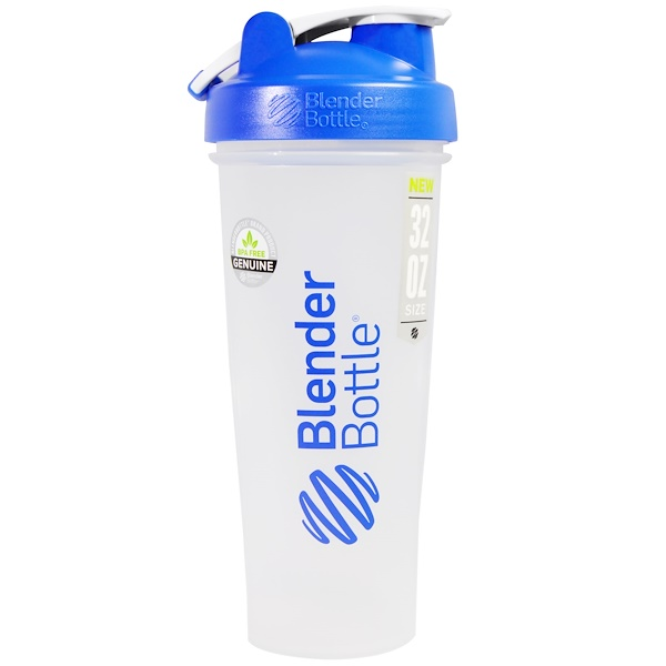 Blender Bottle, BlenderBottle, Classic With Loop, Blue, 32 oz (Discontinued Item)