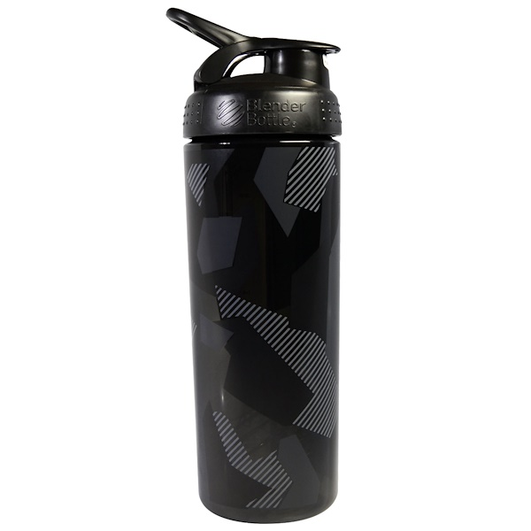 Blender Bottle, BlenderBottle, SportMixer, Signature Sleek, Black, 28 oz (Discontinued Item)