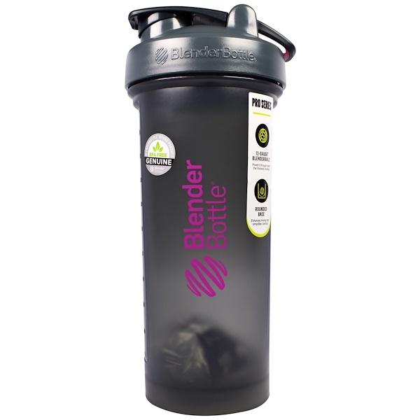 Blender Bottle, BlenderBottle, ProSeries, Pro45, Grey/Pink, 45 oz (Discontinued Item)