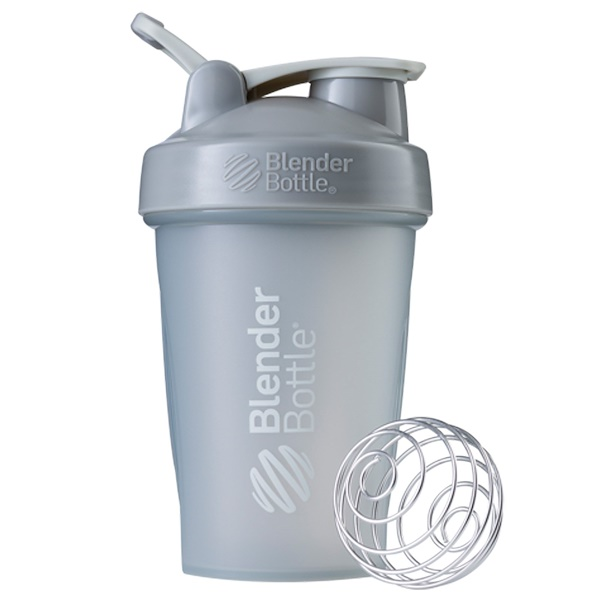 Blender Bottle, BlenderBottle, Classic With Loop, Pebble Grey, 20 oz (Discontinued Item)