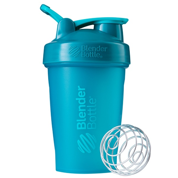 Blender Bottle, BlenderBottle, clásica con presilla, cerceta, 20 oz (Discontinued Item)
