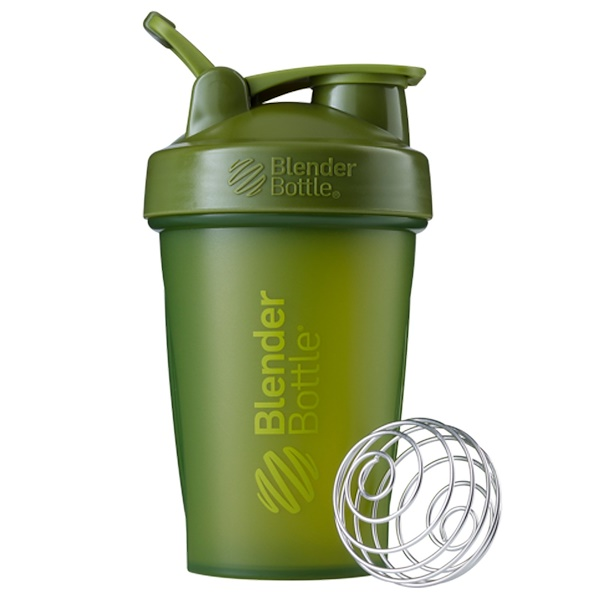 Blender Bottle, BlenderBottle, Classic mit Schlaufe, Moosgrün, 20 oz (567 ml) (Discontinued Item)