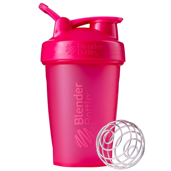 Blender Bottle, BlenderBottle, Classic With Loop, Pink, 20 oz (Discontinued Item)