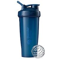 Блендерная бутылка, классическая с петлей, темно-синяя, 28 унций - фото