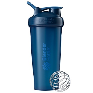 Blender Bottle, BlenderBottle Classic com Alça, Azul-Marinho, 28 oz (828 ml)