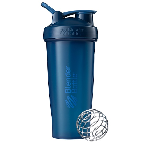 Blender Bottle, BlenderBottle, Classic com Alça, Cor Azul-Marinho, 28 oz (Discontinued Item)