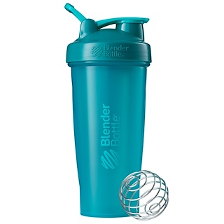 Blender Bottle, BlenderBottle, Classic With Loop, Teal, 28 oz