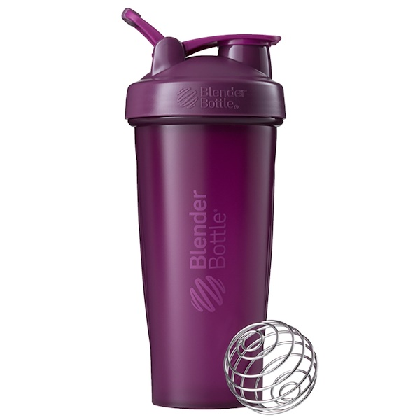 Blender Bottle, BlenderBottle, Classic With Loop, Plum, 28 oz