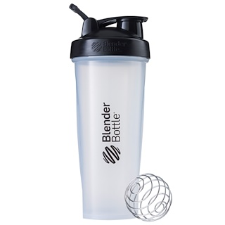 Sundesa, BlenderBottle, Classic With Loop, Black/Clear, 32 oz