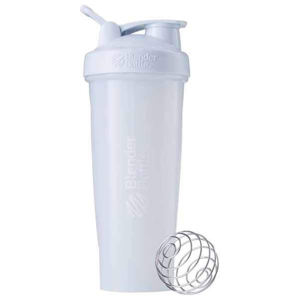 Blender Bottle, BlenderBottle、クラシック (ループ付き)、ホワイト、32 oz (Discontinued Item)