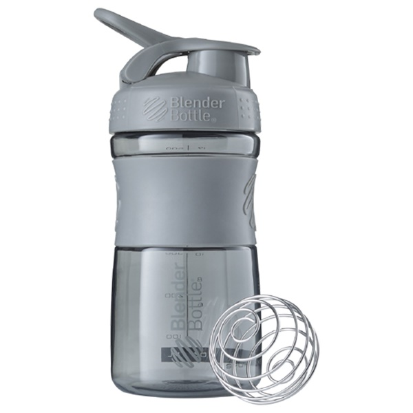 Blender Bottle, BlenderBottle, SportMixer Tritan Grip, Pebble Grey, 20 oz (Discontinued Item)